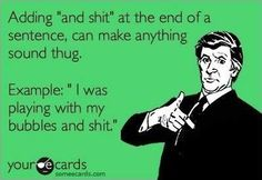Least thug-like person on the planet, but I'm gonna start saying this...
