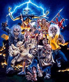 """""""Eddie"""" de diferentes portadas de los discos de Iron Maiden..."""