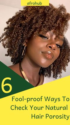Your hair's porosity is the key to buying the correct natural hair products and adding the right hair practices to your routine. Here are simple ways to find out your hair's porosity for sure. #naturalhairporosity #naturalhairporositytest