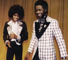 MJ and singer Al Green during the 2nd American Music Awards at the Civic Auditorium, Santa Monica, February 18 1975