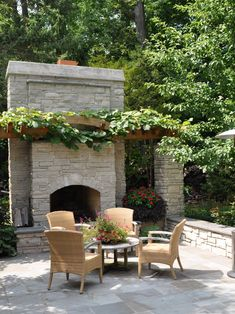 Houzz Like this fireplace but would not want it this tall also like the seating wall