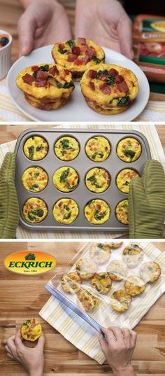 Kitchen Hack: Cut down on prep time by doubling your favorite muffin tin recipes! Cook, cool and then transfer to freezer bags. Try this hack with our Mini Smoked Sausage Frittatas for a quick, last minute meal. Sausage Breakfast, Breakfast Dishes, Breakfast Recipes, Vegetarian Breakfast, Breakfast Burritos, Breakfast Muffins, Breakfast Casserole, Breakfast Ideas, Bulk Cooking