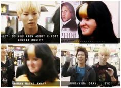 when SHINee attempts to have a conversation with strangers. love love love jonghyun in this! 。゚(TヮT)゚。 #shinee