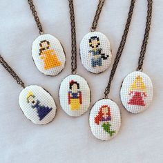 Cross-Stitch Princess Necklaces   27 Lovely Disney-Inspired Items Every Fan Should Own