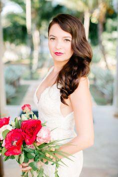The stunning bride: http://www.stylemepretty.com/little-black-book-blog/2015/06/15/vibrant-winter-destination-wedding-at-playa-del-carmen/ | Photography: Brittany Rene - http://www.brittrenephoto.com/