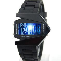 LED Digital Armbanduhr Fliegeruhr Stoppuhr Sport Militär Silikon Herren Uhr Neu