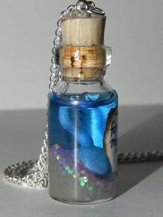 Hook, Once Upon a Time Tv Show Inspired, Captain Killian Jones' Hook Bottle Necklace