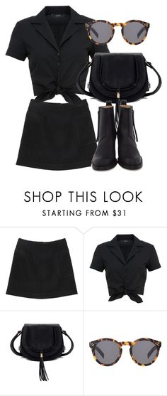 """""""Untitled #6530"""" by laurenmboot ❤ liked on Polyvore featuring Monki, Hallhuber, Illesteva and Acne Studios"""