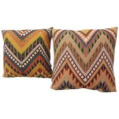 Pair of Graphic Tribal Pillows.