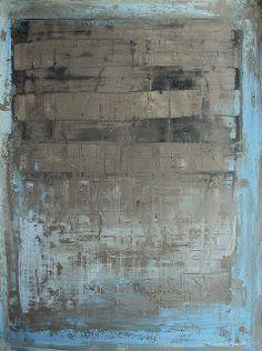 CHRISTIAN HETZEL Bild_1038_blue_grey_painting_02_30_40_cm_mixed_media_paper_2013 | Flickr - Photo Sharing!