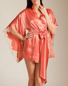 Carine Gilson Dentelle Reconduit Lingerie Short Kimono on shopstyle.com