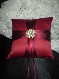 Wedding Ring Bearer Pillow by HighlandCottageArts on Etsy, $25.00