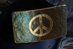 Peace Sign Belt Buckle Hand Forged Hypoallergenic by ironartcanada  https://www.etsy.com/ca/listing/256951319/peace-sign-belt-buckle-hand-forged?ref=shop_home_active_1