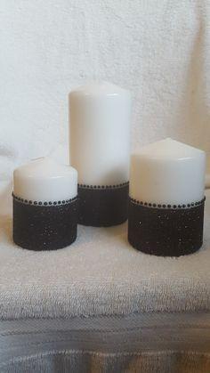 Black glitter set of 3 from welshwaxesandcrafts.co.uk