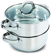 Oster Sangerfield Steamer Set with Lid for Stovetop Use, Stainless Steel. This casserole with lid and steamer insert is ideal for any kitchen. Perfect for steaming vegetables and cooking rice at the same time as well as re-steaming tamales as leftovers. Best Cooking Pots, Cooking Rice, Cooking 101, Best Steamer, Tapas, Steamer Recipes, How To Cook Rice, Kitchen, Shopping
