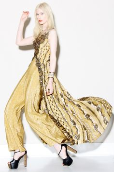 Vintage 1960s Palazzo Jumpsuit / Maxi Dress http://thriftedandmodern.com/vintage-1960s-metallic-jumpsuit-maxi-dress
