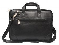 Comfort 14 inch Pure Leather Black Laptop Bag for men and women unisex EL40