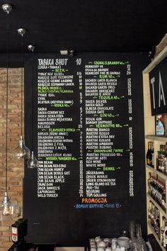 Chalk markers menu at Tabaka Pub, Gdansk, Poland by Aleks Skrok