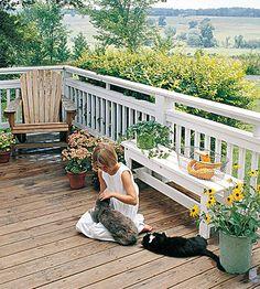 Idea for deck railing