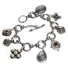 Gerochristo 6340 ~ Sterling Silver Medieval Byzantine - Charm Bracelet