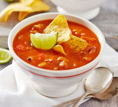 Spicy chilli bean soup