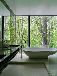 Nice tub and view