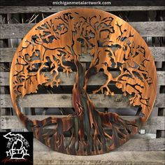"Tree Of Life Metal Wall Art Figure out more information on ""metal tree art"". Look at our site. Metal Tree Wall Art, Metal Artwork, Outdoor Metal Wall Art, Outdoor Art, Wall Art Crafts, Wall Art Decor, Art Carte, Tree Artwork, Tropical Decor"