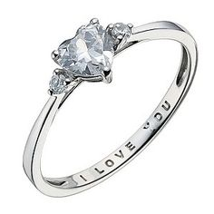 9ct White Gold I Love You Ring   Product number 9082549
