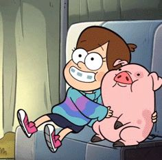 Photo of Mabel and Waddles! for fans of Gravity Falls 32865194