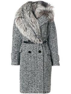 Купить Ermanno Scervino пальто с меховой отделкой.