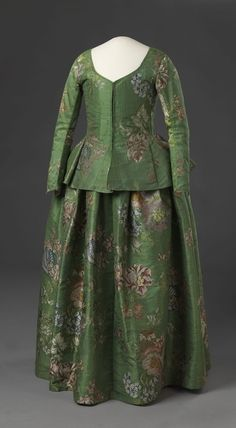 1740-60 silk--love this shade of green!