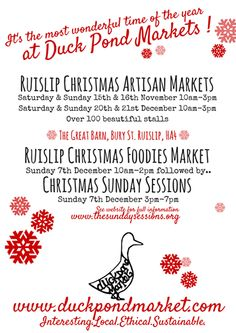 Really looking forward to this event on Saturday with the Duck Pond Market - their events are always fab :) #christmasmarket #christmasfair #duckpondmarket #countdowntochristmas