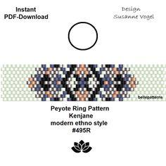 Ein persönlicher Favorit aus meinem Etsy-Shop https://www.etsy.com/de/listing/577766552/peyote-ring-muster-pdf-download-digital