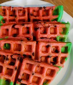 Oooooh emmm geee this is too cute! Good idea for a spring/summer watermelon themed brunch Brunch Recipes, Summer Recipes, Brunch Ideas, Watermelon Birthday, Summer Birthday, 9th Birthday, Birthday Parties, Happy Birthday, National Watermelon Day