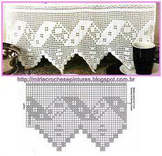 Crochet Curtains, Crochet Doilies, Crochet Lace, Thread Crochet, Filet Crochet, Crochet Stitches, Crochet Designs, Crochet Patterns, Crochet Borders