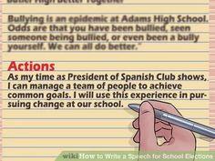 Writing a School Election Speech