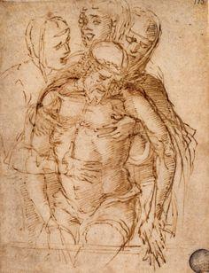 Mantegna - Studio di Pietà, Venezia, Gallerie dell'Accademia, Gabinetto disegni e stampe