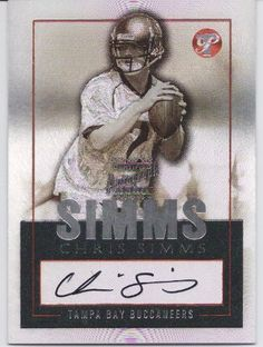 2003 Topps Pristine Chris Simms Autographed Rookie Football Card by Topps. $14.99. Topps Authenticated Autographed Rookie Card.