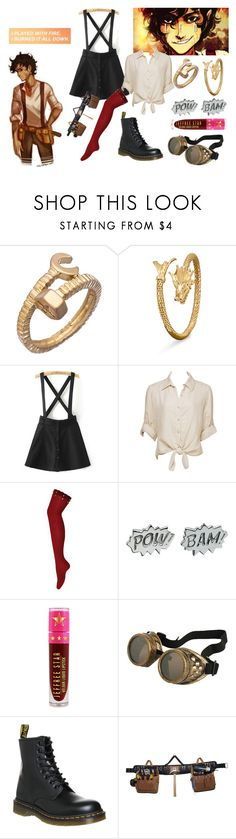 """""""playing with fire"""" by nikethighhighs ❤ liked on Polyvore featuring Blu Bijoux, BillyTheTree, Charlotte Russe, Edge Only, Jeffree Star, Dr. Martens, Carhartt and LetLeoValdezWearThighHighs2k17"""