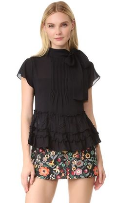 RED Valentino Tie Neck Blouse