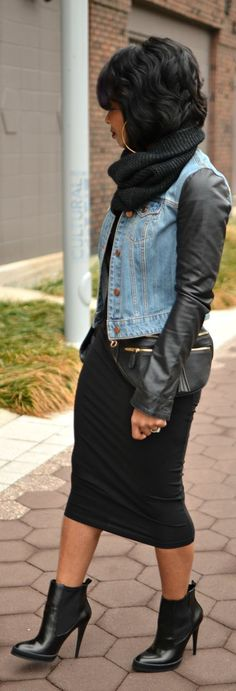 Denim and leather                                                                                                                                                                                 More                                                                                                                                                                                 More