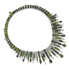 Sotheby's auctions, green tourmaline and diamonds