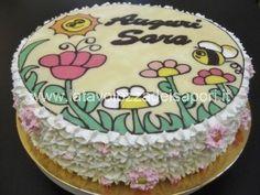 Torta di Panna con Prato Fiorito di Cioccolato   http://www.latavolozzadeisapori.it/ricette/torta-di-panna-con-prato-fiorito-di-cioccolato