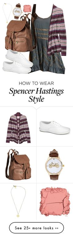 """""""Spencer Hastings inspired outfit with requested dress"""" by liarsstyle on Polyvore featuring H&M, Keds, Boutique by Lola, Forever 21 and Illamasqua"""
