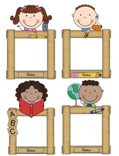 Teacher Tech Time: Spreadsheets are done & student welcome Classroom Labels, Classroom Decor, Owl Classroom, Student Picture, Kindergarten, Back To School Bulletin Boards, School Frame, School Labels, School Clipart