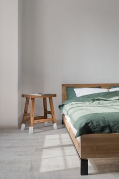 Japanese design of this stool makes it beautiful and simple addition to any room.  #bed #interior #design #woodwerk #kiev #stool