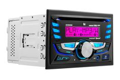 "Dual DC525Bi Double-DIN CD Reveiver with 3.7-Inch LCD and Bluetooth. Built-in Bluetooth Technology for hands-free calling and audio streaming and Direct USB control for most iPhone/iPod devices. Pandora radio app control (iPhone via USB). RGB custom colors with 32,768 million combinations with a large 3.7"" wide 10 character LCD screen. Front Panel USB (1A) and 3.5mm inputs. 7 EQ presets (Pop, Rock, Jazz, Classic, Beat, Flat and User)."