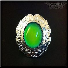 Large Mood Ring // Gothic Ring // Victorian Ring // Adjustable