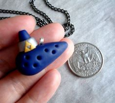Handmade Polymer Clay The Legend of Zelda Ocarina of time Necklace