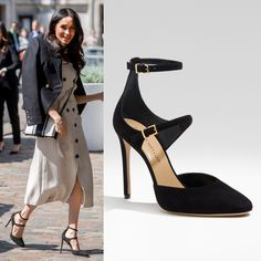 893a309b8a8 Tamara Mellon  Paramour  Black Suede Heels as seen on Meghan Markle Black  Patent Leather